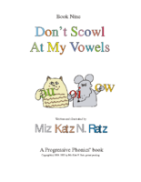 BOOK 9 DON'T SCOWL AT MY VOWELS