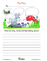 My Story Worksheet Letter