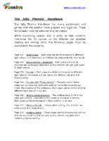 The Phonics Handbook – Teachers´ Preparation Work