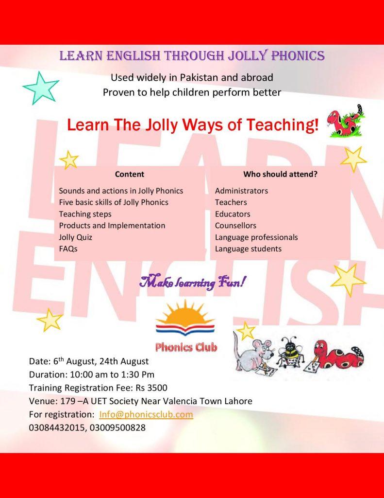 "Learn English through Jolly Phonics"" Workshop | Phonics Club"