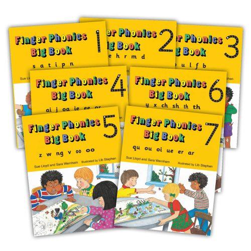 Jolly Phonics Finger Phonic Books (Hard Cover)